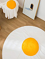 cheap -double sided 70 inches fried eggs blanket,880g (thicker and super warmth) funny soft flannel circular blanket, giant food blanket (diameter 71 inches)