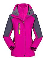 cheap -Women's Hiking 3-in-1 Jackets Ski Jacket Hiking Fleece Jacket Winter Outdoor Thermal Warm Waterproof Windproof Quick Dry Outerwear Winter Jacket Trench Coat Skiing Ski / Snowboard Fishing Women's
