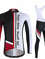 cheap -cycling suit bike clothing kit wear pants jerseys apparel comfortable autumn long sleeve for outdoor sport biking mens & womens,red,xl