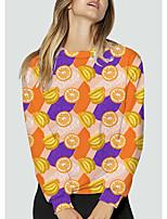 cheap -Women's Sweatshirt Pullover Graphic Fruit Print Daily Sports 3D Print Active Streetwear Hoodies Sweatshirts  Yellow
