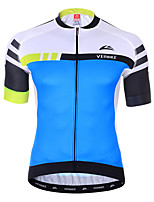 cheap -Men's Short Sleeve Cycling Jersey Summer Spandex Red Blue Green Stripes Color Block Bike Top Mountain Bike MTB Road Bike Cycling Quick Dry Sports Clothing Apparel / Athleisure