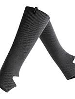 cheap -Comfort Sport Women's Socks Solid Colored Socks Sport Socks / Athletic Socks Warm Sport Black 1 Pair / Leg Warmers