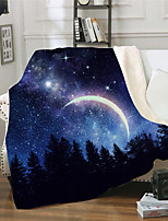 cheap -Cross-border foreign trade exclusively for double layer thickened blanket 3D digital printed blanket sofa cover blanket square blanket starry sky series