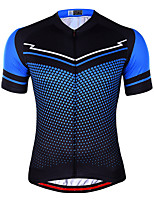 cheap -21Grams Men's Short Sleeve Cycling Jersey Summer Spandex Red Blue Polka Dot 3D Bike Top Mountain Bike MTB Road Bike Cycling Quick Dry Moisture Wicking Sports Clothing Apparel / Athleisure