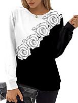 cheap -Women's Sweatshirt Pullover Floral Color Block Print Daily Sports 3D Print Active Streetwear Hoodies Sweatshirts  Black