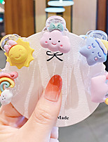 cheap -Children's Trumpet Catch Clip Ins Cartoon Rainbow Bangs Broken Clip Baby Does Not Hurt Hair Clip Girl Small Clip rubber band Jewelry