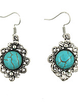 cheap -Women's Turquoise Drop Earrings Classic Stylish Classic Earrings Jewelry Silver For Street Date 1 Pair