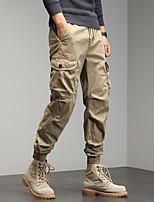 cheap -Men's Work Pants Hiking Cargo Pants Track Pants 6 Pockets Drawstring Military Summer Outdoor Windproof Ripstop Breathable Multi Pockets Spandex Cotton Beam Foot Bottoms Grey Khaki Green Black Hunting