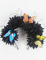 cheap -Halloween Party Headband Chrysanthemum Bead Thread Butterfly Headdress Mexican Simulation Flower Head Buckle