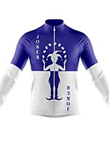 cheap -21Grams Men's Long Sleeve Cycling Jersey Spandex Polyester Purple Color Block Funny Bike Top Mountain Bike MTB Road Bike Cycling Quick Dry Moisture Wicking Breathable Sports Clothing Apparel
