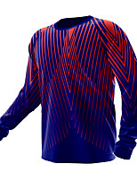 cheap -21Grams Men's Long Sleeve Downhill Jersey Spandex Purple Stripes Bike Top Mountain Bike MTB Road Bike Cycling Quick Dry Moisture Wicking Sports Clothing Apparel / Athleisure