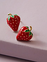 cheap -Women's Earrings Classic Fruit Simple Cartoon Romantic Cute Sweet Earrings Jewelry Red For Party Evening Gift Date Beach Festival 1 Pair