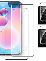 cheap -[2+2 pack]galaxy s21 ultra screen protector [camera lens protector][ultrasonic fingerprint compatible][3d curved][9h hardness][hd clear] for samsung galaxy s21 ultra 5g (6.8inch)