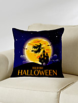 cheap -Halloween Double Side Cushion Cover 1PC Soft Decorative Square Throw Pillow Cover Cushion Case Pillowcase for Bedroom Livingroom Superior Quality Machine Washable Indoor Cushion for Sofa Couch Bed Chair