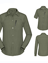 cheap -Men's Hiking Shirt / Button Down Shirts Long Sleeve Sweatshirt Top Outdoor Quick Dry Lightweight Breathable Sweat wicking Spring Summer Army Green Male Gray male Khaki Male Skiing Ski / Snowboard