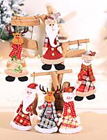 cheap -Christmas Decoration Fabric Hanging Christmas Tree Pendant Ornaments Children's Gifts Mini Dolls