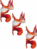 cheap -1/3/5pcs peeping squirrel wall decal, woodland animals wall decal, darkduke sunny decals forest animals all decal, woodland stickers for walls and windows, removable fabric kids wall sticker