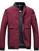 cheap -Men's Hiking Jacket Hiking Windbreaker Outdoor Thermal Warm Windproof Quick Dry Lightweight Outerwear Trench Coat Top Skiing Ski / Snowboard Fishing Blue Black Red / Camping / Hiking / Caving