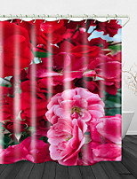 cheap -Bright and Beautiful Flowers Print Waterproof Fabric Shower Curtain for Bathroom Home Decor Covered Bathtub Curtains Liner Includes with Hooks