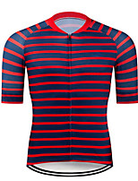 cheap -CAWANFLY Men's Short Sleeve Cycling Jersey Summer Red Bike Tee Tshirt Jersey Top Road Bike Cycling Quick Dry Sports Clothing Apparel / Micro-elastic