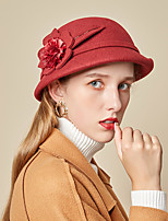 cheap -Women's Party  Hat Party Wedding Special Occasion Flower Flower Wine Red Hat Gray Fall Winter Spring Holiday