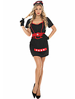 cheap -Nurse Dress Adults' Women's Halloween Halloween Halloween Festival / Holiday Terylene Red+Black Women's Easy Carnival Costumes Solid Color / Gloves / Headwear