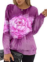cheap -Women's Sweatshirt Pullover Floral 3D Print Daily Sports 3D Print Active Streetwear Hoodies Sweatshirts  Blushing Pink Gray