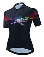 cheap -21Grams Women's Short Sleeve Cycling Jersey Summer Spandex Black Bike Top Mountain Bike MTB Road Bike Cycling Quick Dry Moisture Wicking Sports Clothing Apparel / Stretchy / Athleisure