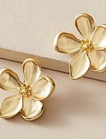 cheap -Women's Earrings Classic Petal Stylish Simple Romantic Modern Korean Earrings Jewelry Gold For Birthday New Baby Sport Date Vacation 1 Pair