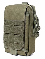 """cheap -6.5"""" mobile phone pouch holster purse case cell phone tactical utility waist bag with card slots edc military molle system (green)"""