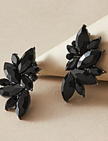 cheap -Women's Earrings Geometrical Petal Stylish Luxury Elegant Korean Sweet Earrings Jewelry Black For Birthday New Baby Gift Prom Date 1 Pair