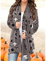 cheap -Witch Ghost Coat Cosplay Costume Adults' Women's Cartoon Halloween Party Halloween Halloween Carnival Masquerade Festival / Holiday Acrylic Fibers Gray Women's Easy Carnival Costumes Cartoon