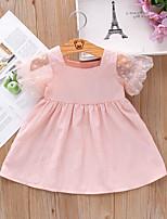 cheap -[80-110cm] girls' mesh puff sleeve pure color princess dress