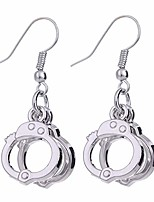 cheap -cute handcuffs shape dangle earrings punk trendy handcuffs drop earrings for women girls jewelry