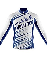 cheap -21Grams Men's Long Sleeve Cycling Jersey Spandex Polyester White Stripes Funny Bike Top Mountain Bike MTB Road Bike Cycling Quick Dry Moisture Wicking Breathable Sports Clothing Apparel / Athleisure