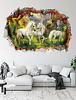 cheap -3D Animals Wall Stickers Living Room Kids Room Kindergarten Removable PVC Home Decoration Wall Decal 1pc