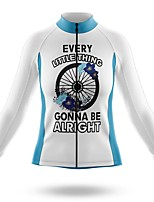 cheap -21Grams Women's Long Sleeve Cycling Jersey Spandex Polyester White Funny Bike Top Mountain Bike MTB Road Bike Cycling Quick Dry Moisture Wicking Breathable Sports Clothing Apparel / Stretchy