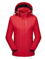 cheap -Women's Hiking 3-in-1 Jackets Ski Jacket Hiking Fleece Jacket Winter Outdoor Thermal Warm Waterproof Windproof Fleece Lining Outerwear Windbreaker Trench Coat Skiing Fishing Climbing (Female) red