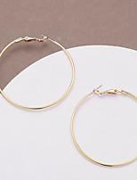 cheap -Women's Hoop Earrings Earrings Classic Birthday Stylish Simple Romantic Cool Sweet Earrings Jewelry Gold For Halloween Gift Formal Date Festival 1 Pair