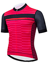 cheap -CAWANFLY Men's Short Sleeve Cycling Jersey Summer Rose Red Bike Tee Tshirt Jersey Top Road Bike Cycling Quick Dry Sports Clothing Apparel / Micro-elastic