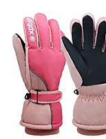 cheap -Ski Gloves Snow Gloves for Women Thermal Warm Waterproof Windproof PU Leather Full Finger Gloves Snowsports for Cold Weather Winter Skiing Snowboarding