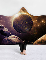 cheap -New Hooded Blanket Home Blanket Children's Blanket Thicken Blanket Double-layer Blanket Gorgeous and Beautiful Starry Sky Series