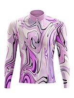 cheap -21Grams Men's Long Sleeve Cycling Jersey Spandex Polyester Purple Funny Bike Top Mountain Bike MTB Road Bike Cycling Quick Dry Moisture Wicking Breathable Sports Clothing Apparel / Stretchy