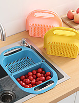 cheap -Foldable Plastic Sink Drain Basket Vegetable and Fruit Storage Basket High Quality PP Material Nordic Macarons Style