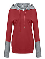 cheap -Women's Hoodie Solid Color Pocket Casual Daily Casual Hoodies Sweatshirts  Loose Blue Black Red