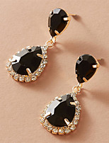 cheap -Women's Earrings Pear Cut Stylish Elegant Fashion Modern Sweet Earrings Jewelry Black For Wedding Party Evening Gift Date Beach 1 Pair