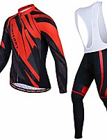 cheap -men's cycling jersey set cycling clothing men long sleeve jersey + gel padding pants tights breathable quick dry sportwear cycling clothing set (color : a, size : xxxxl)