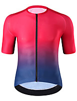 cheap -21Grams Men's Short Sleeve Cycling Jersey Summer Spandex Yellow Red Gradient Bike Top Mountain Bike MTB Road Bike Cycling Quick Dry Moisture Wicking Sports Clothing Apparel / Athleisure