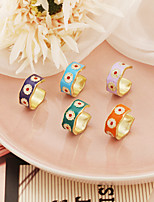 cheap -Band Ring Fancy Blue Purple Green Alloy Daisy Stylish Simple Colorful 1pc One Size / Women's / Open Cuff Ring