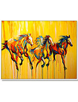cheap -Oil Painting Handmade Hand Painted Wall Art Horizontal Modern Abstract Running Horse Home Decoration Decor Rolled Canvas No Frame Unstretched